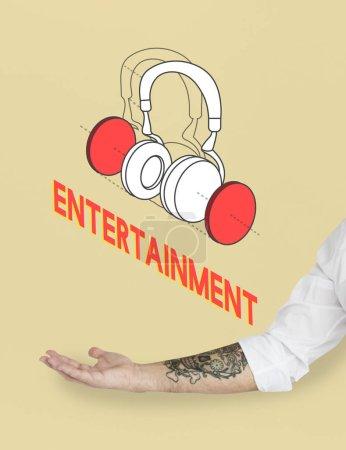Music entertainment headphones