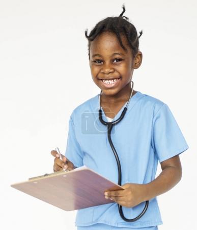 Kid with uniform dream job