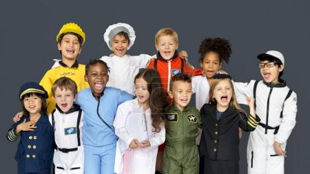 Kids Wearing Career Costumes