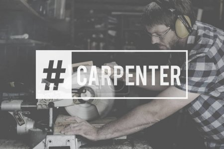 Carpenter Craftman in workshop