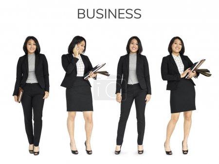 beautiful asian business women in suit