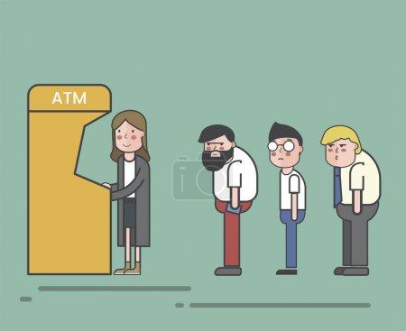 illustration of pattern banking concept