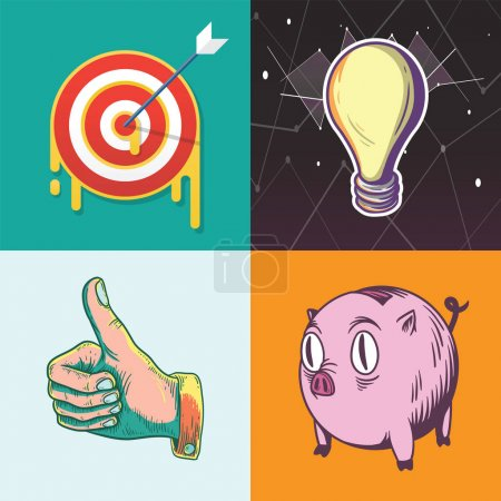 Idea Target Savings Goals Business Investment Graphic Illustration Icon