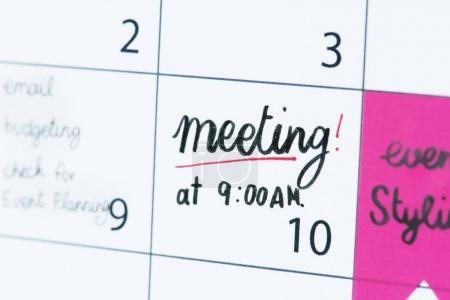 Meeting calendar reminder, original photoset
