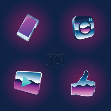 Illustration of social media icons