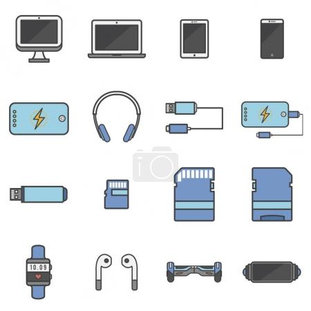 illustration of pattern icons concept