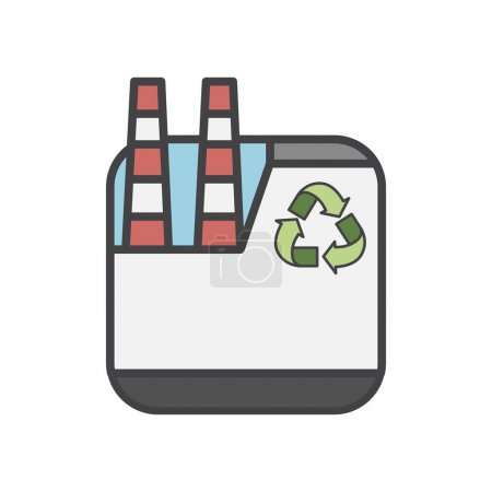 Illustration of environmentally friendly plant icon