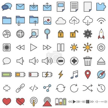 illustration of pattern icons