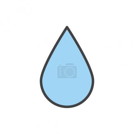Illustration of drop of water icon