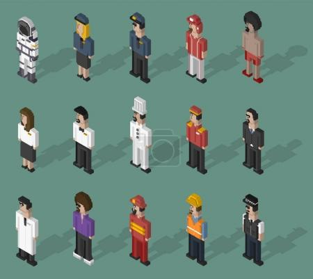 Photo for Illustration set of people and professions - Royalty Free Image