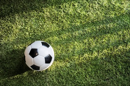 Photo for Football on green grass - Royalty Free Image