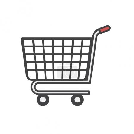 Illustration of online shopping icon