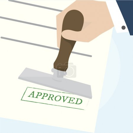 Illustration of approved stamp