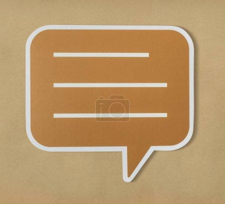 Conversation speech bubble cut out icon
