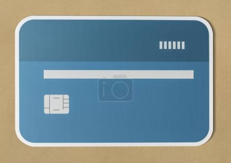 Credit or debit card banking icon