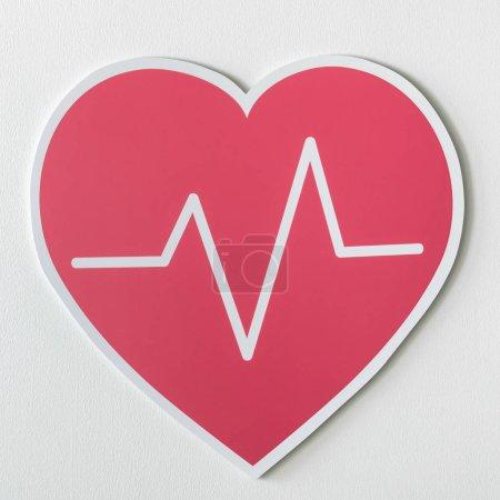 Heart disease medicine cut out icon