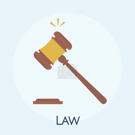 Illustration of law concept