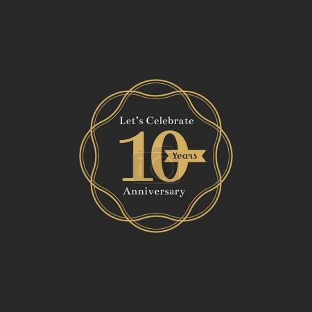 Illustration of 10th anniversary stamp banner