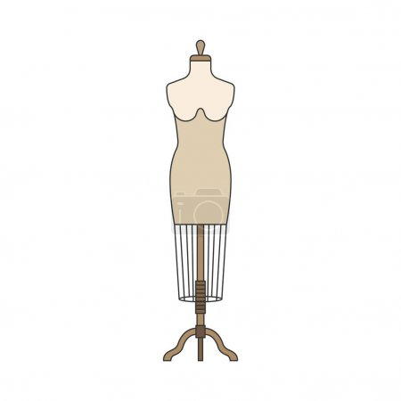 Dummy mannequin isolated in white