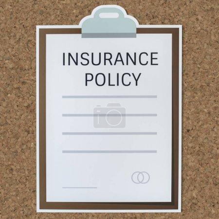 Photo pour Icône de formulaire information assurance - image libre de droit