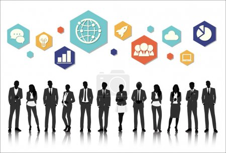 Business People with Graphic icons