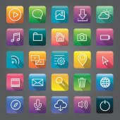 Creative application icons Vector illustration suitable for mobile phone and tablet cloud network and app concept