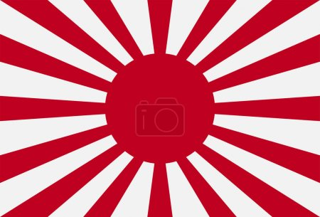 Rising Sun Flag of Japan vector eps10