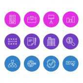 Vector Illustration Of 12 Management Icons Editable Pack Of Portfolio Recision Goal And Other Elements