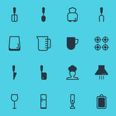 Vector Illustration Of 16 Cooking Icons Editable Pack Of Bread Mixer Cook And Other Elements