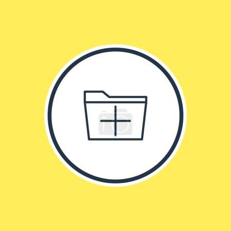 Illustration pour Bel élément de lieu de travail peut également être utilisé comme élément supplémentaire. Illustration vectorielle des grandes lignes de Plus . - image libre de droit
