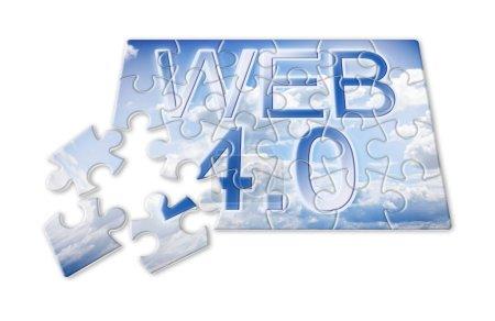 WEB 4.0 - concept image in puzzle shape...