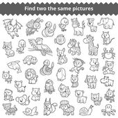Find the same pictures for children zoo animals