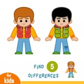 Find differences Boy in the gilet