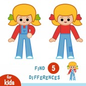 Find differences Girl in overalls