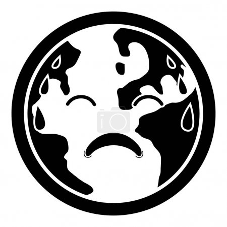 Sad earth silhouette