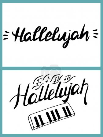 Word Hallelujah is written by hand