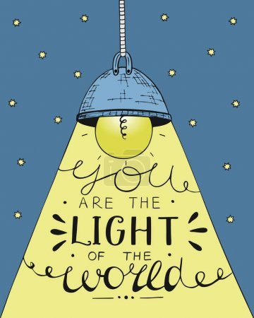Hand lettering You the light of the world