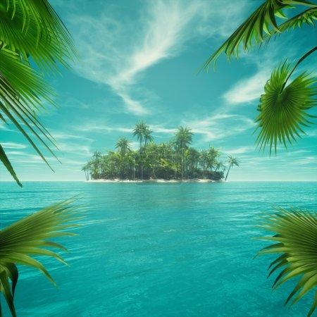 Deserted tropical paradise