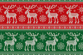 Christmas Seamless Knitted Pattern with with Elks and Snowflakes Scheme for Cross Stitch Embroidery and Knitted Sweater Pattern Design