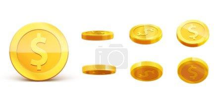 Illustration pour Modèle de pièces d'or, illustration vectorielle - image libre de droit