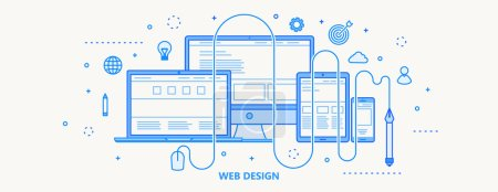 Web design icon, vector illustration