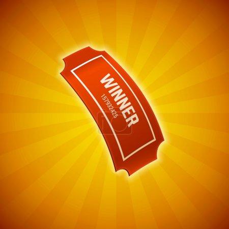 Illustration pour Billet de loterie gagnant, illustration vectorielle - image libre de droit