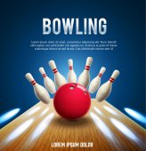 bowling realistic banners