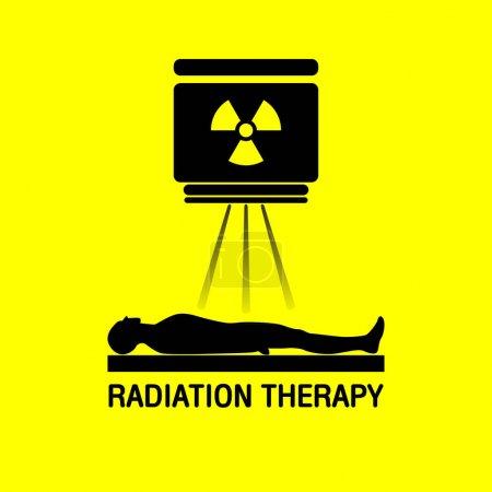 Radiation therapy Medical logo vector icon design