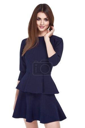 Portrait of beautiful business woman lady style perfect body