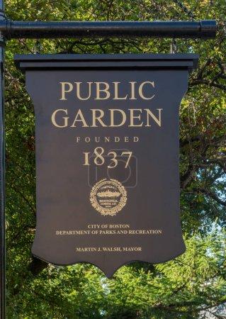 Boston Public Garden Sign