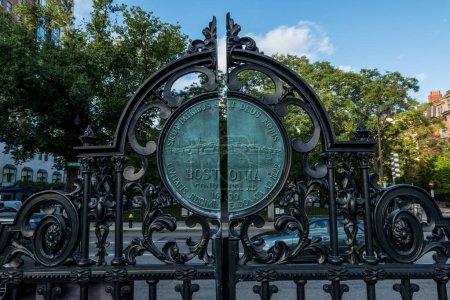 Boston Public Garden Entry Gate