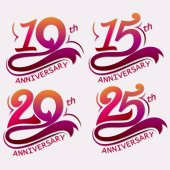 Anniversary Design Template celebration sign