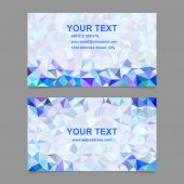 Color triangle mosaic business card template design