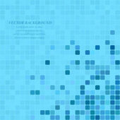 Light blue square mosaic background - vector illustration